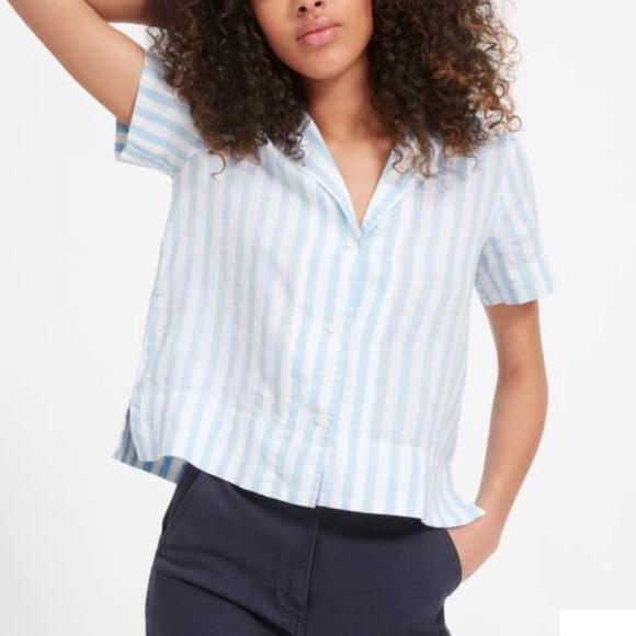 a79e830d0fb2d9 NWT Everlane Linen Notch Short-Sleeve Shirt. M_5b6da8508869f726462a0f2c